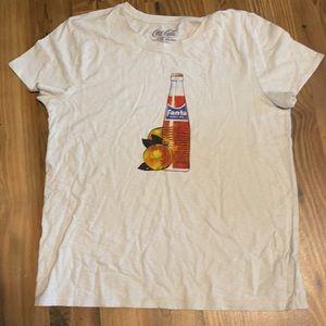 🆕 Lucky Brand Fanta Orange Coca Cola Graphic Tee